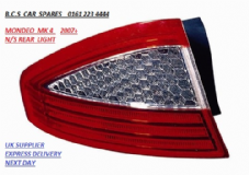 FORD MONDEO MK 4  N/S REAR LIGHT / LENS  PASSENGER SIDE   2007- 2008 - 2009 - 2010      DRIVERS SIDE (  HATCH BACK MODEL ONLY  )